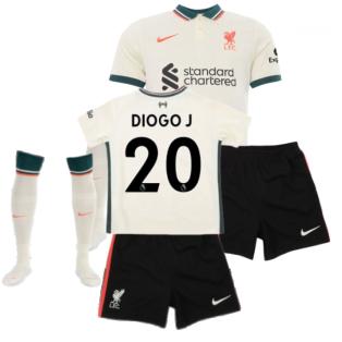 Liverpool 2021-2022 Away Little Boys Mini Kit (DIOGO J 20)