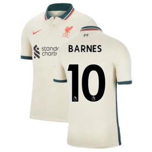 Liverpool 2021-2022 Away Shirt (Kids) (BARNES 10)