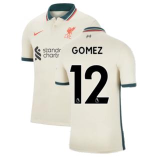 Liverpool 2021-2022 Away Shirt (Kids) (GOMEZ 12)