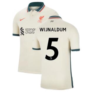Liverpool 2021-2022 Away Shirt (Kids) (WIJNALDUM 5)
