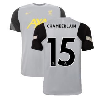 Liverpool 2021-2022 CL Training Shirt (Wolf Grey) (CHAMBERLAIN 15)