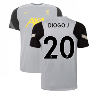Liverpool 2021-2022 CL Training Shirt (Wolf Grey) (DIOGO J 20)