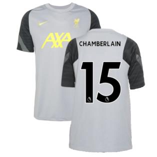 Liverpool 2021-2022 CL Training Shirt (Wolf Grey) - Kids (CHAMBERLAIN 15)