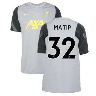 Liverpool 2021-2022 CL Training Shirt (Wolf Grey) - Kids (MATIP 32)