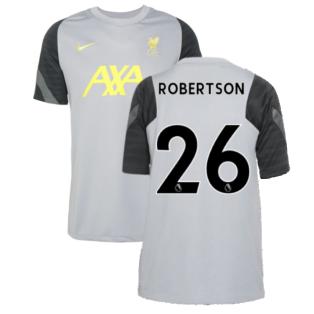 Liverpool 2021-2022 CL Training Shirt (Wolf Grey) - Kids (ROBERTSON 26)