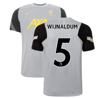 Liverpool 2021-2022 CL Training Shirt (Wolf Grey) (WIJNALDUM 5)