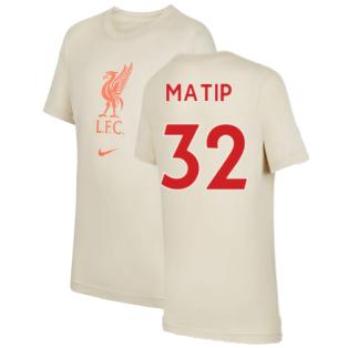 Liverpool 2021-2022 Evergreen Crest Tee (Fossil) - Kids (MATIP 32)