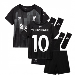 Liverpool 2021-2022 Goalkeeper Baby Kit (Black) (Your Name)