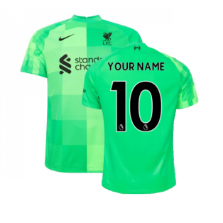 Liverpool 2021-2022 Goalkeeper Shirt (Green) (Your Name)