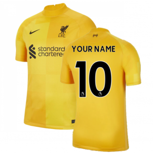 Liverpool 2021-2022 Home Goalkeeper Shirt (University Gold) - Kids (Your Name)
