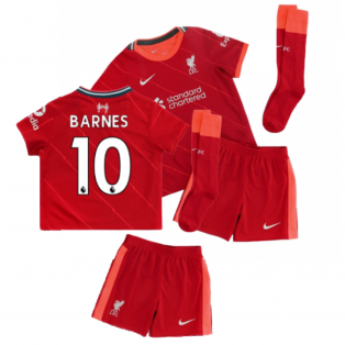 Liverpool 2021-2022 Home Little Boys Mini Kit (BARNES 10)