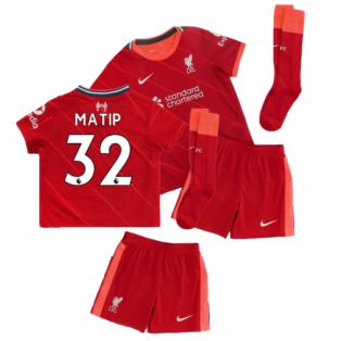 Liverpool 2021-2022 Home Little Boys Mini Kit (MATIP 32)