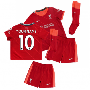 Liverpool 2021-2022 Home Little Boys Mini Kit (Your Name)