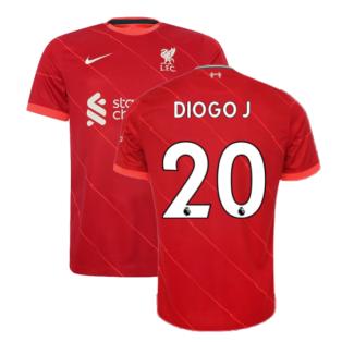 Liverpool 2021-2022 Home Shirt (DIOGO J 20)