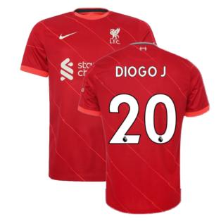 Liverpool 2021-2022 Home Shirt (Kids) (DIOGO J 20)