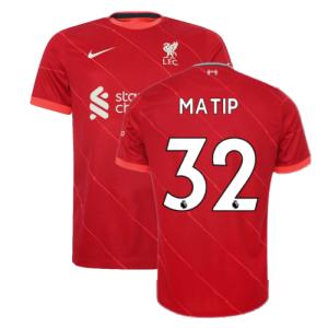 Liverpool 2021-2022 Home Shirt (Kids) (MATIP 32)
