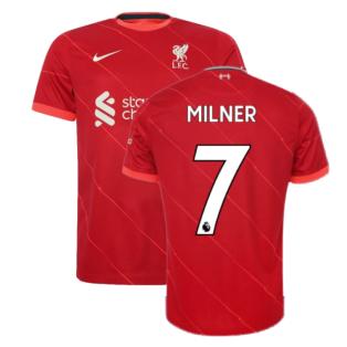 Liverpool 2021-2022 Home Shirt (Kids) (MILNER 7)