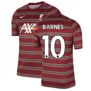 Liverpool 2021-2022 Pre-Match Training Shirt (Red) (BARNES 10)