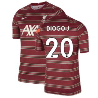 Liverpool 2021-2022 Pre-Match Training Shirt (Red) (DIOGO J 20)