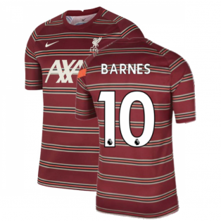 Liverpool 2021-2022 Pre-Match Training Shirt (Red) - Kids (BARNES 10)