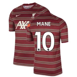 Liverpool 2021-2022 Pre-Match Training Shirt (Red) - Kids (MANE 10)