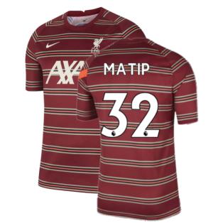 Liverpool 2021-2022 Pre-Match Training Shirt (Red) - Kids (MATIP 32)