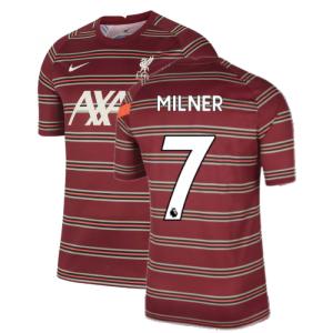 Liverpool 2021-2022 Pre-Match Training Shirt (Red) - Kids (MILNER 7)