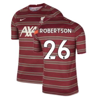 Liverpool 2021-2022 Pre-Match Training Shirt (Red) - Kids (ROBERTSON 26)