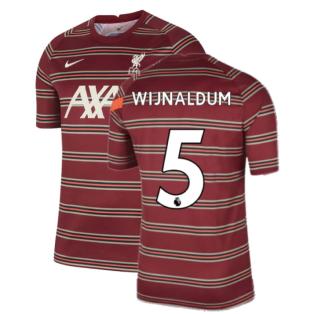 Liverpool 2021-2022 Pre-Match Training Shirt (Red) - Kids (WIJNALDUM 5)