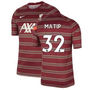 Liverpool 2021-2022 Pre-Match Training Shirt (Red) (MATIP 32)