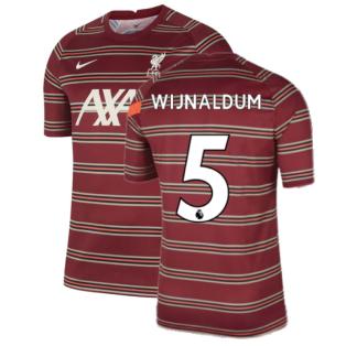 Liverpool 2021-2022 Pre-Match Training Shirt (Red) (WIJNALDUM 5)