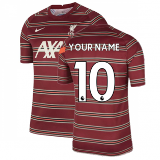 Liverpool 2021-2022 Pre-Match Training Shirt (Red) (Your Name)