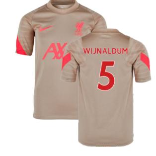 Liverpool 2021-2022 Training Shirt (Mystic Stone) - Kids (WIJNALDUM 5)