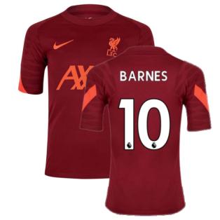 Liverpool 2021-2022 Training Shirt (Team Red) - Kids (BARNES 10)
