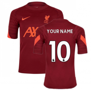 Liverpool 2021-2022 Training Shirt (Team Red) - Kids (Your Name)