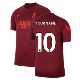 Liverpool 2021-2022 Training Shirt (Team Red) (Your Name)
