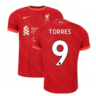 Liverpool 2021-2022 Vapor Home Shirt (Kids) (TORRES 9)