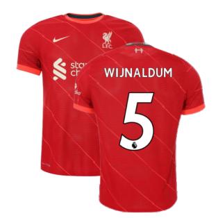 Liverpool 2021-2022 Vapor Home Shirt (Kids) (WIJNALDUM 5)
