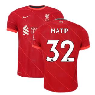 Liverpool 2021-2022 Vapor Home Shirt (MATIP 32)