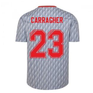 Liverpool FC 1990 Away Retro Football Shirt (CARRAGHER 23)