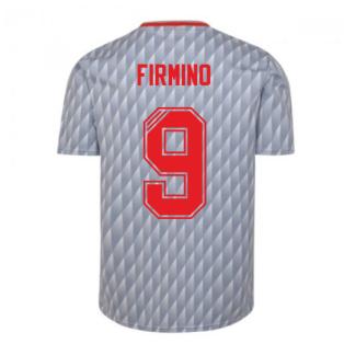 Liverpool FC 1990 Away Retro Football Shirt (FIRMINO 9)