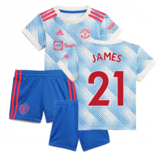 Man Utd 2021-2022 Away Baby Kit (JAMES 21)