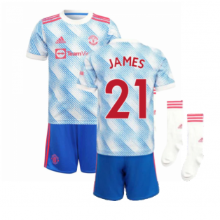 Man Utd 2021-2022 Away Mini Kit (JAMES 21)