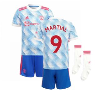 Man Utd 2021-2022 Away Mini Kit (MARTIAL 9)