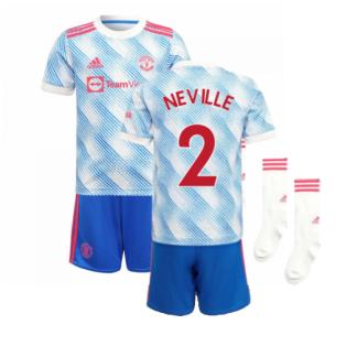 Man Utd 2021-2022 Away Mini Kit (NEVILLE 2)