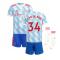 Man Utd 2021-2022 Away Mini Kit (VAN DE BEEK 34)