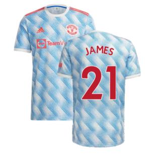 Man Utd 2021-2022 Away Shirt (Kids) (JAMES 21)