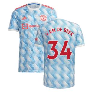Man Utd 2021-2022 Away Shirt (Kids) (VAN DE BEEK 34)