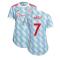 Man Utd 2021-2022 Away Shirt (Ladies) (BEST 7)