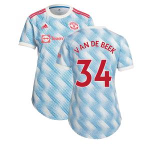 Man Utd 2021-2022 Away Shirt (Ladies) (VAN DE BEEK 34)